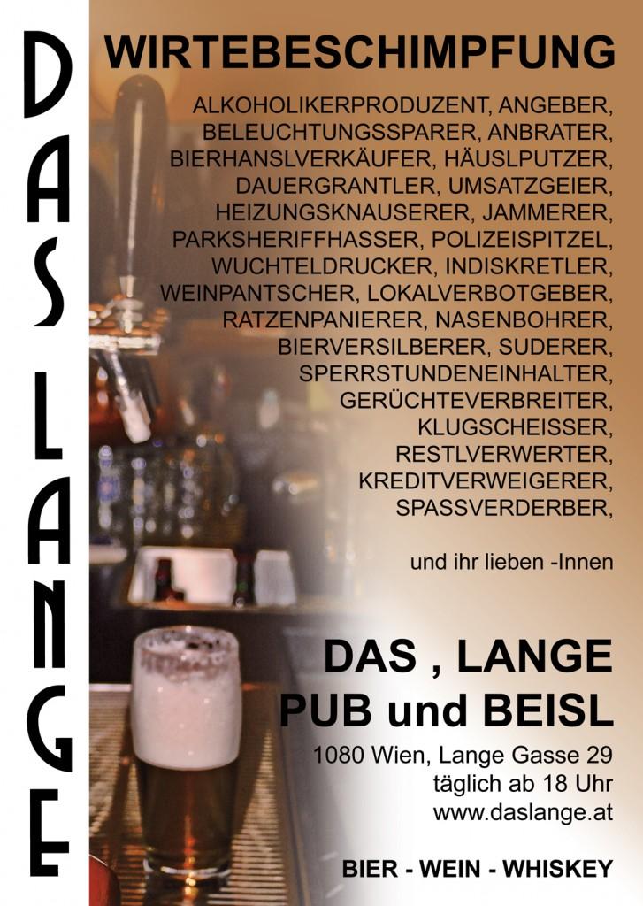 "Das Plakat ""Wirtenbeschimpfung"" wurde mit den Gästen an der Bar kreiert."
