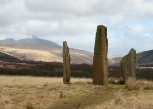 Standing stones on Machrie Moor, Isle of Arran, Scotland. Taken by Mark Phillips.