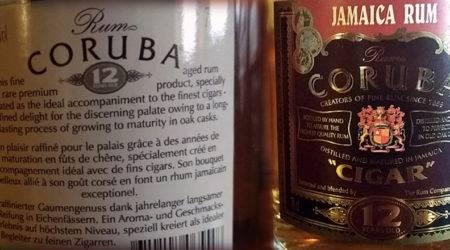 LANGE Pub Rum Angebot: CORUBA CIGAR 12y, eine Coproduktion Jamaika-Schweiz