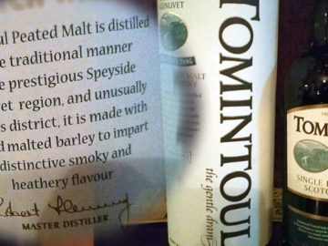 Whisky des Monats: Tomintoul Peaty Tang, Speyside Scot. Single Malt